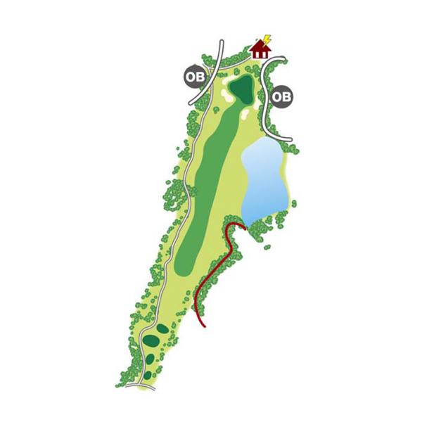 east(東)Course Hole1