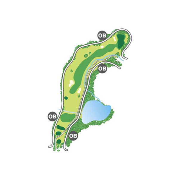 north(北)Course Hole6