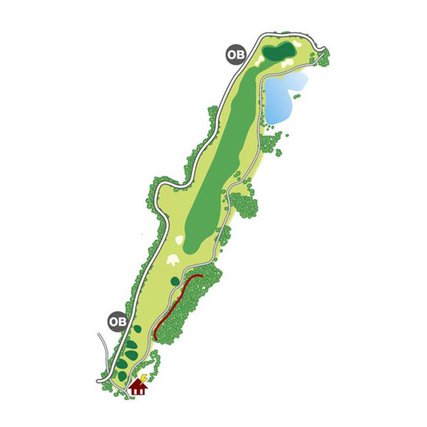 north(北)Course Hole9