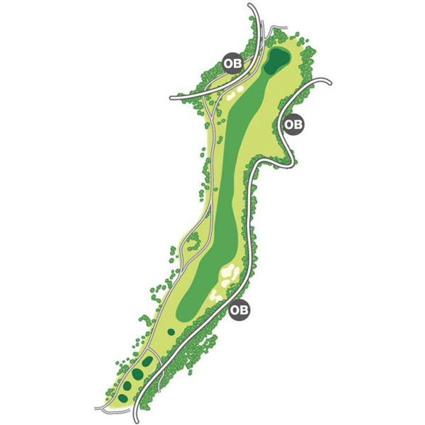 south(南)Course Hole1