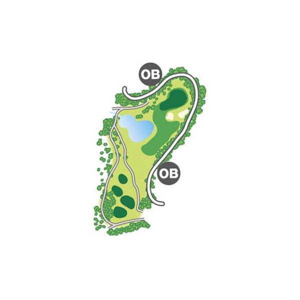 south(南)Course Hole2